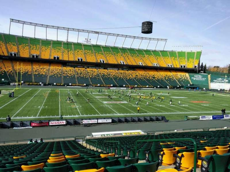 Seating view for Commonwealth Stadium (Edmonton) Section x Row 25 Seat 4