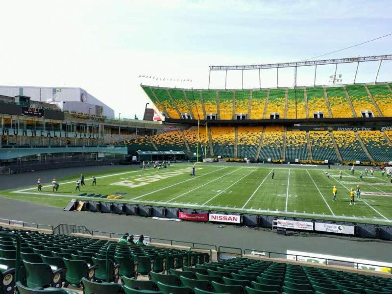 Seating view for Commonwealth Stadium (Edmonton) Section w Row 17 Seat 12