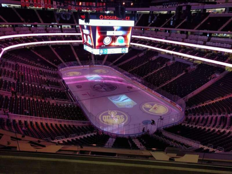 Seating view for Rogers Place Section 230 Row 6 Seat 1