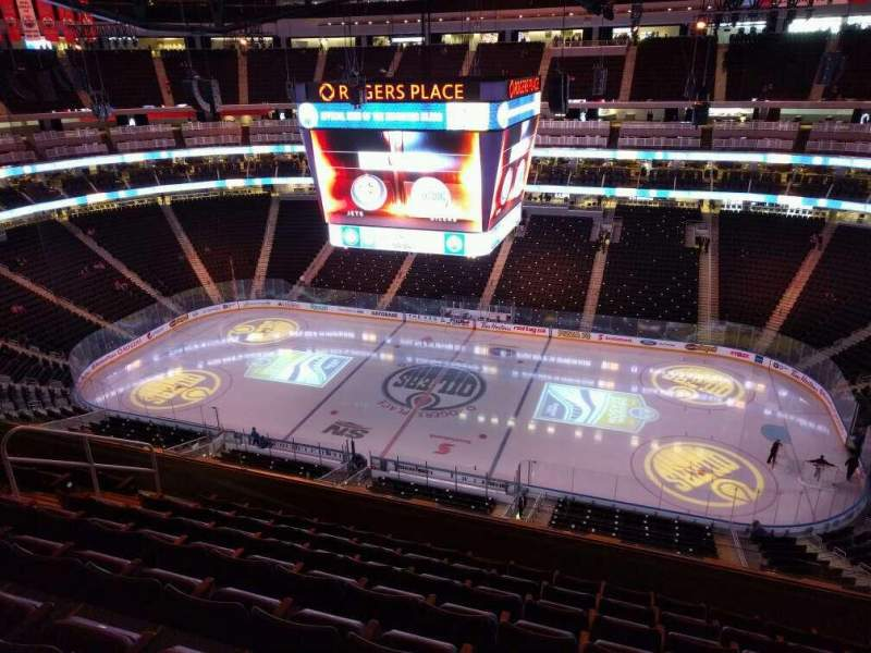 Seating view for Rogers Place Section 201 Row 8 Seat 10