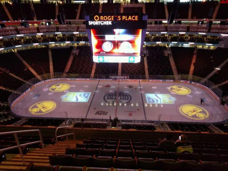 Seating view for Rogers Place Section 202 Row 9 Seat 17