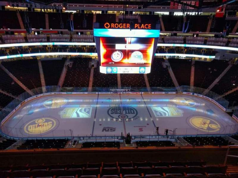 Seating view for Rogers Place Section 203 Row 7 Seat 7