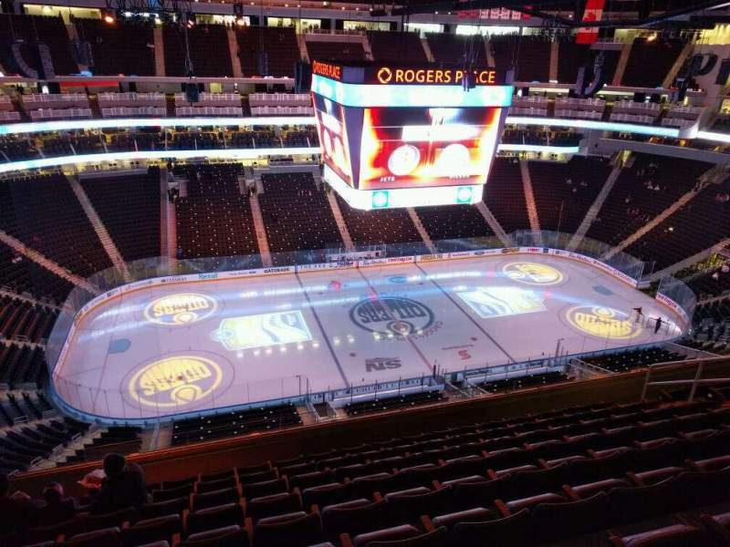 Seating view for Rogers Place Section 204 Row 9 Seat 14