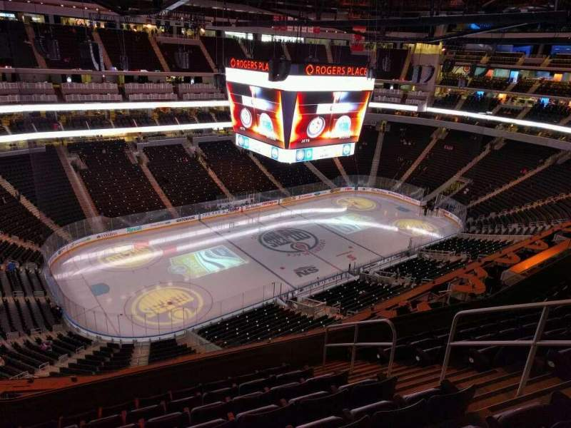 Seating view for Rogers Place Section 206 Row 8 Seat 6