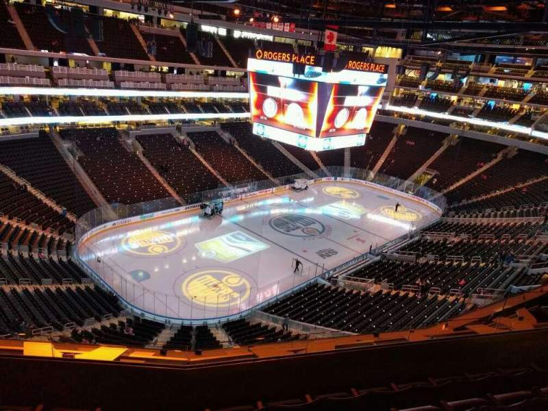 Seating view for Rogers Place Section 207 Row 5 Seat 10