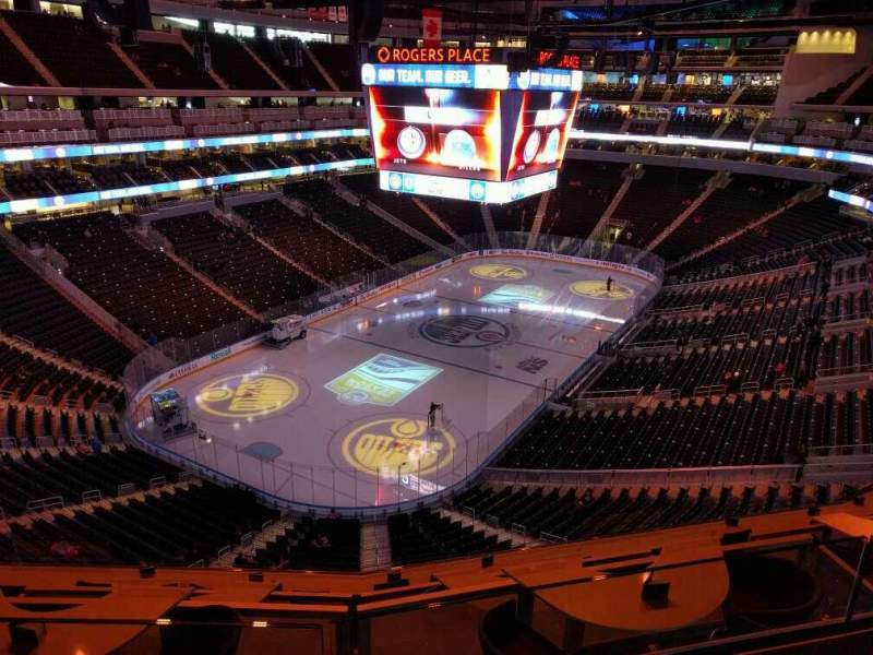 Seating view for Rogers Place Section 208 Row 2 Seat 9