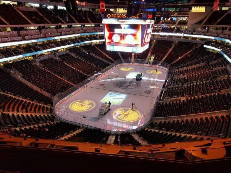Seating view for Rogers Place Section 209 Row 4 Seat 13