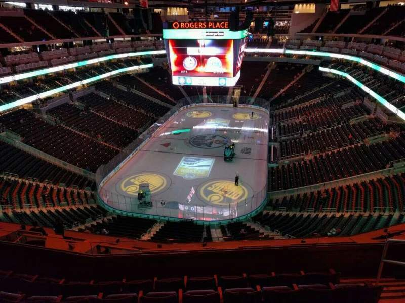 Seating view for Rogers Place Section 210 Row 6 Seat 5