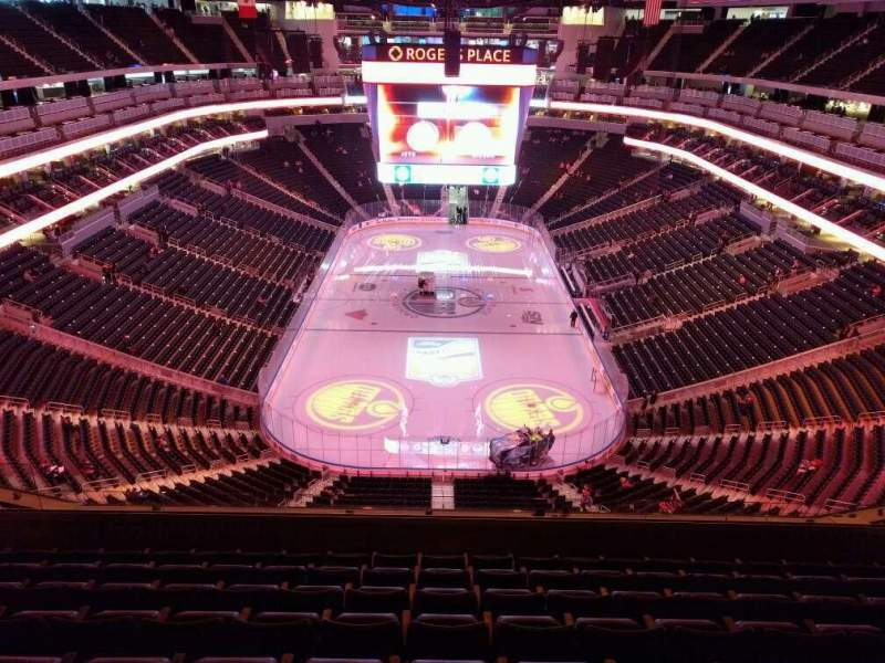 Seating view for Rogers Place Section 211 Row 8 Seat 11