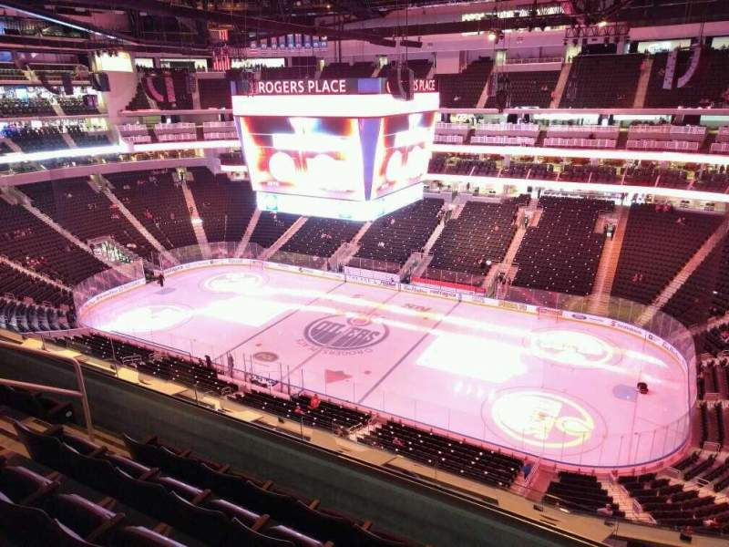 Seating view for Rogers Place Section 217 Row 5 Seat 11