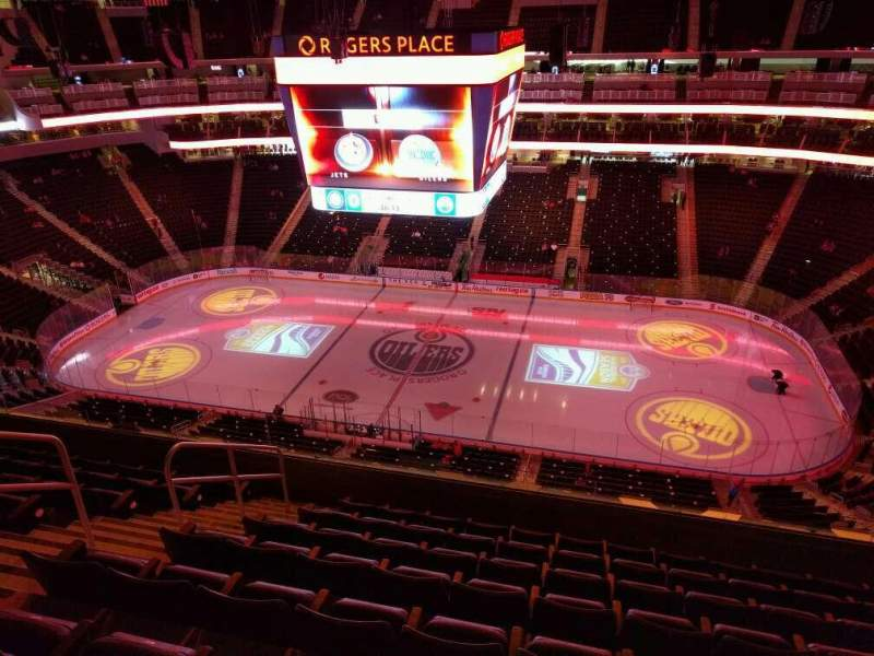 Seating view for Rogers Place Section 218 Row 8 Seat 15