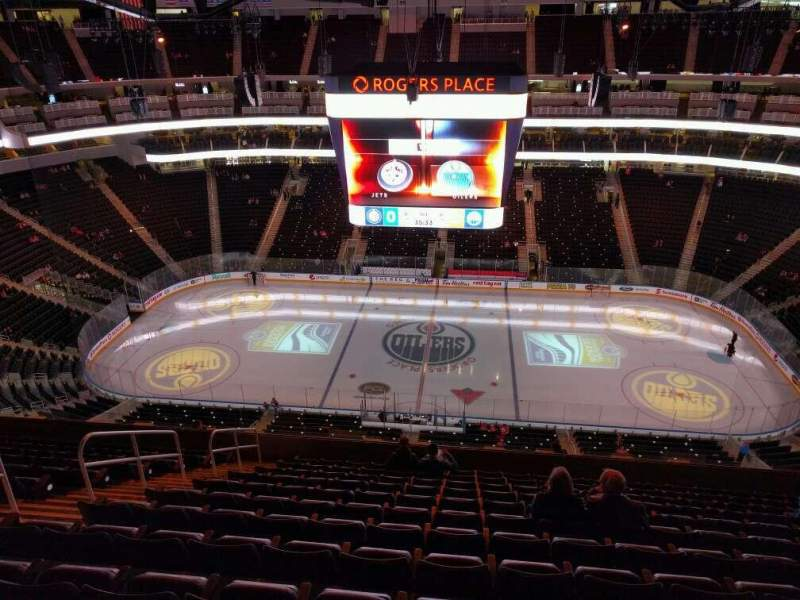 Seating view for Rogers Place Section 219 Row 12 Seat 14