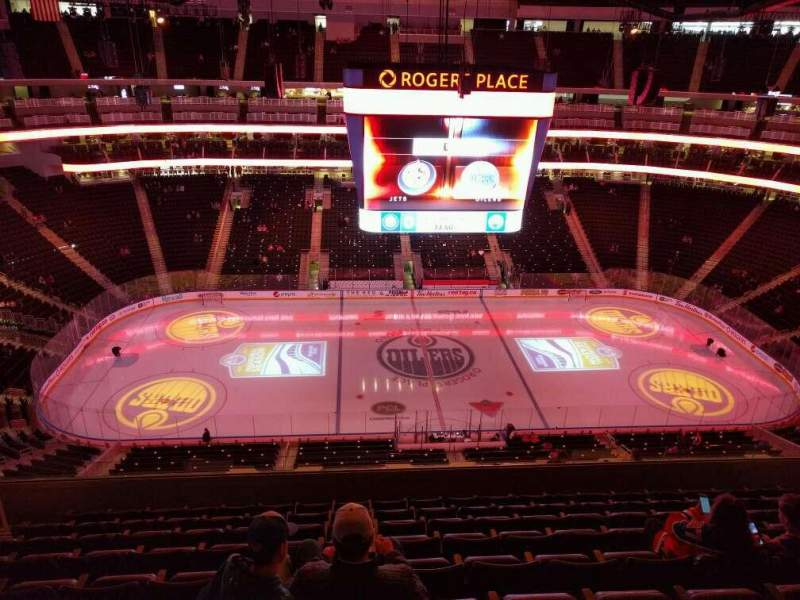 Seating view for Rogers Place Section 220 Row 9 Seat 13