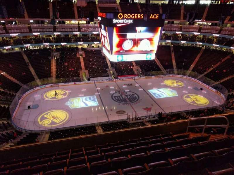 Seating view for Rogers Place Section 221 Row 8 Seat 9