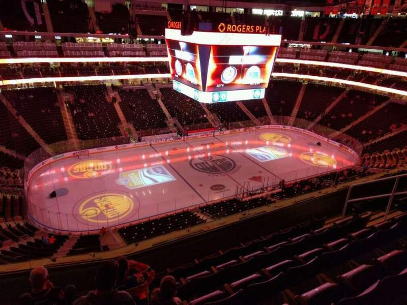 Seating view for Rogers Place Section 222 Row 6 Seat 11