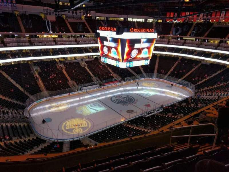 Seating view for Rogers Place Section 223 Row 7 Seat 8