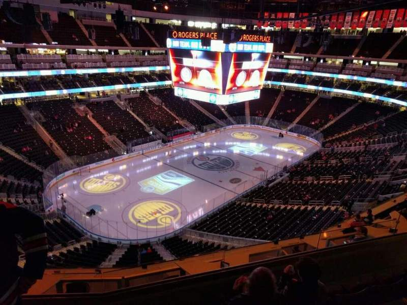 Seating view for Rogers Place Section 224 Row 4 Seat 9