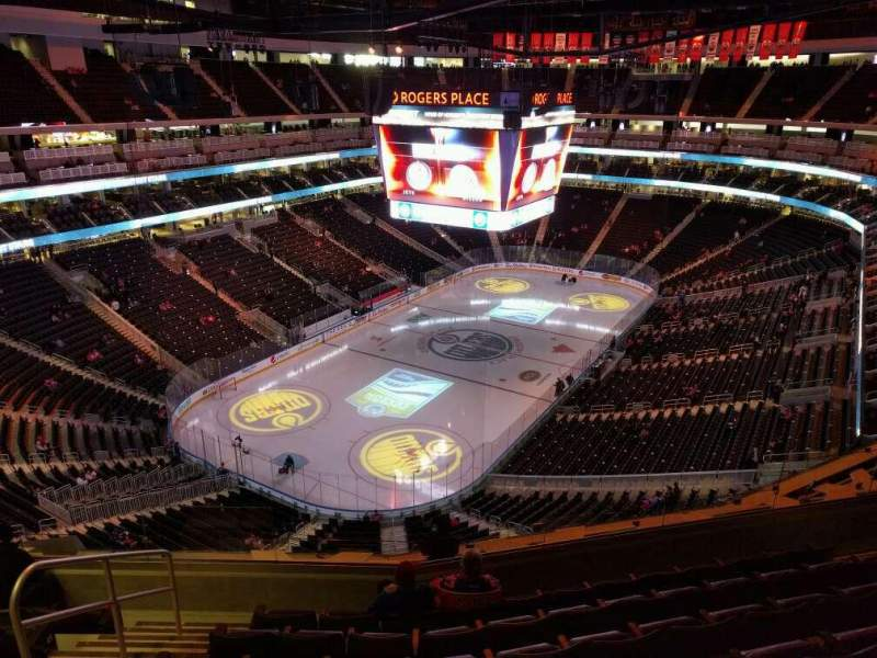 Seating view for Rogers Place Section 225 Row 7 Seat 11