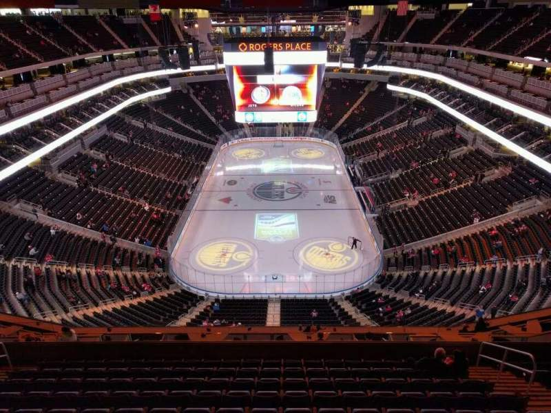 Seating view for Rogers Place Section 211 Row wc Seat 6