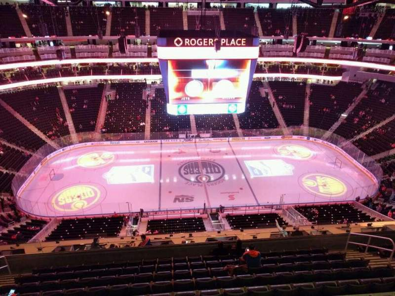 Seating view for Rogers Place Section 203 Row wc Seat 14