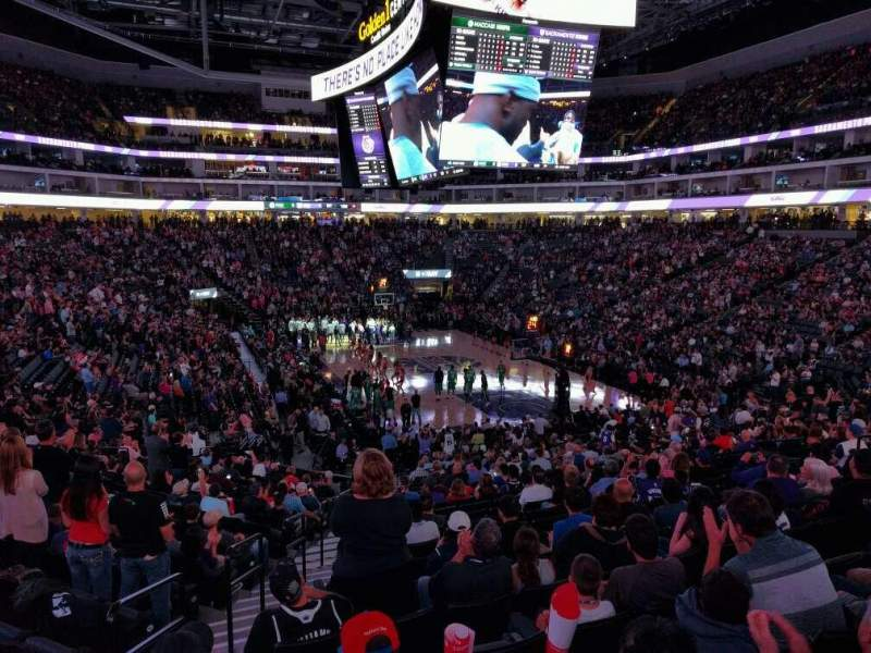 Seating view for Golden 1 Center Section 102 Row U Seat 16