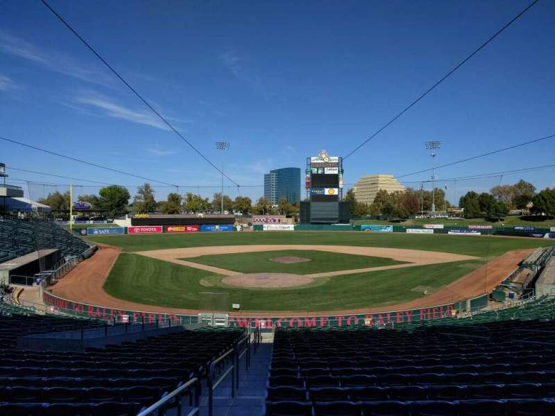 Seating view for Raley Field Section 111 Row 25 Seat 17