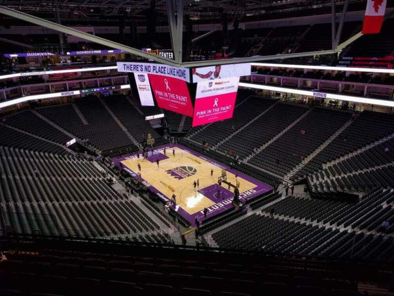 Seating view for Golden 1 Center Section 201 Row k Seat 15