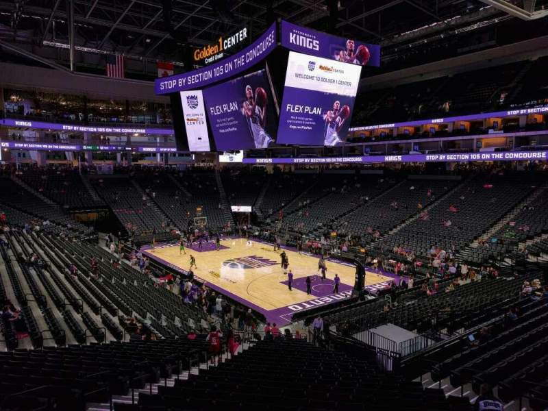 Seating view for Golden 1 Center Section 116 Row wc