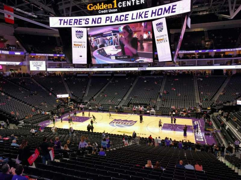 Seating view for Golden 1 Center Section 119 Row wc