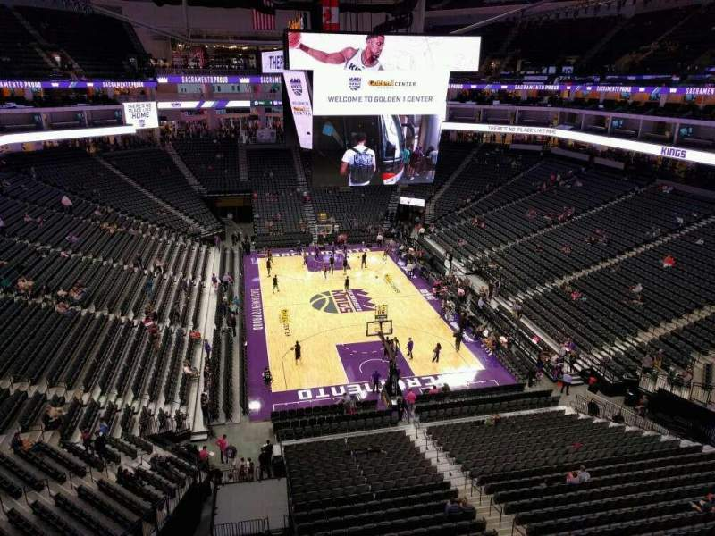 Seating view for Golden 1 Center Section 212 Row a Seat 16