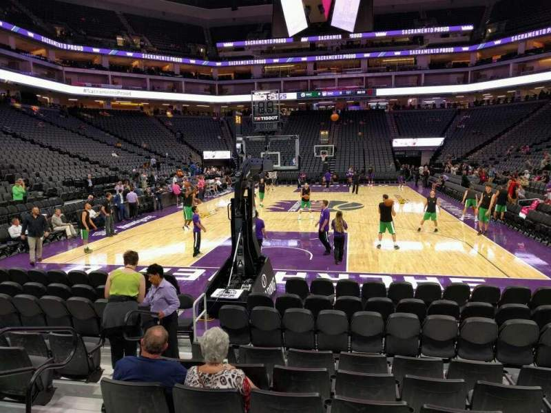 Seating view for Golden 1 Center Section 126 Row h Seat 9