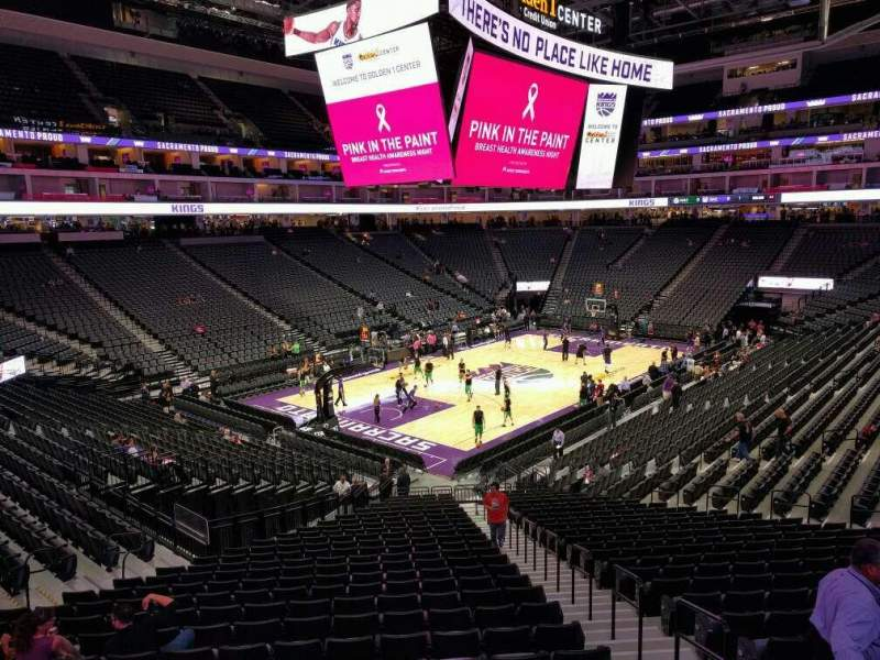 Seating view for Golden 1 Center Section 124 Row wc