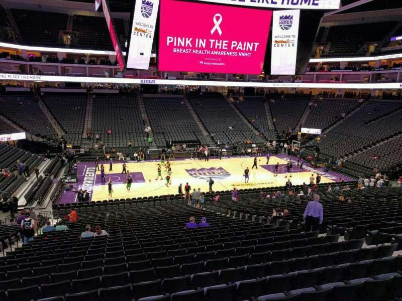 Seating view for Golden 1 Center Section 121 Row wc