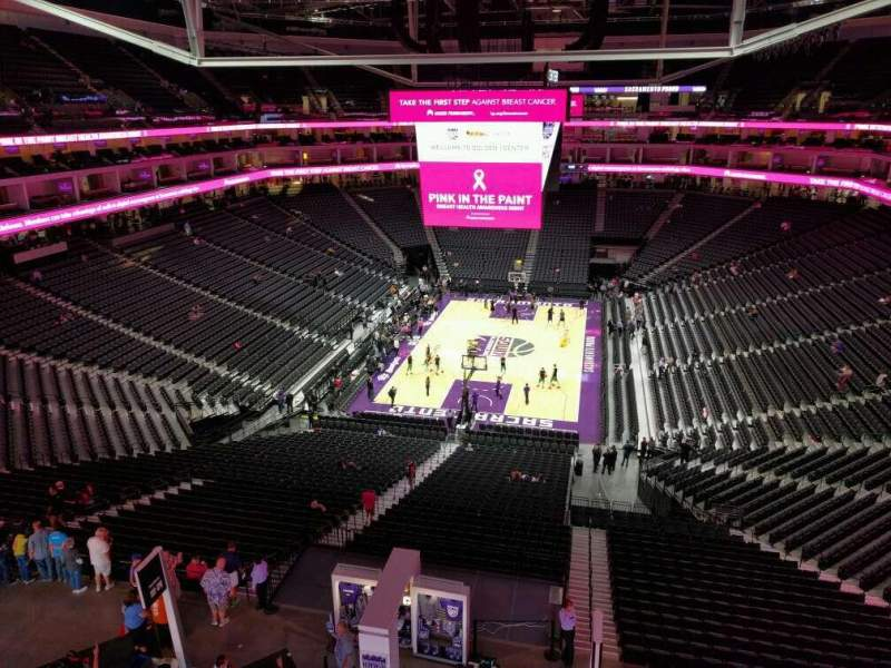 Seating view for Golden 1 Center Section Sierra Nevada Draught House Row GA