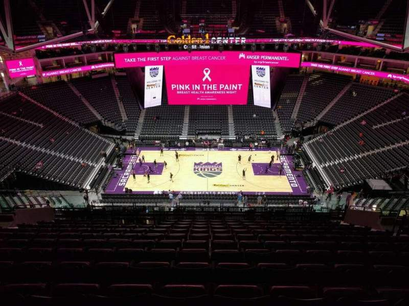 Seating view for Golden 1 Center Section 218 Row r Seat 12