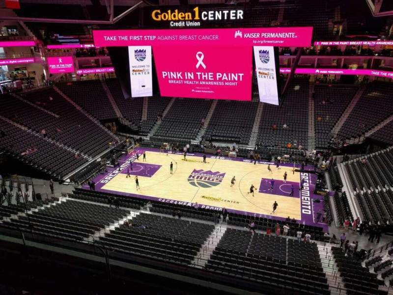 Seating view for Golden 1 Center Section 217 Row d Seat 14