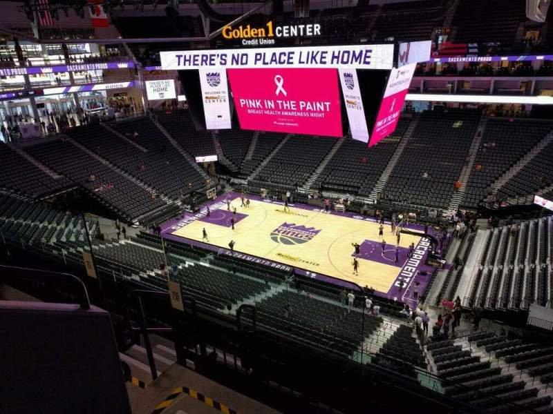 Seating view for Golden 1 Center Section 216 Row e Seat 13
