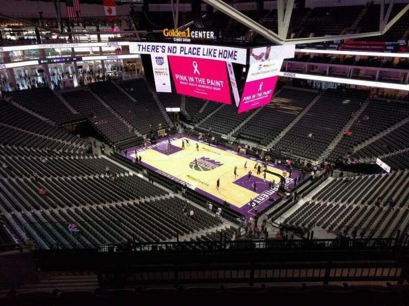 Seating view for Golden 1 Center Section 215 Row j Seat 12
