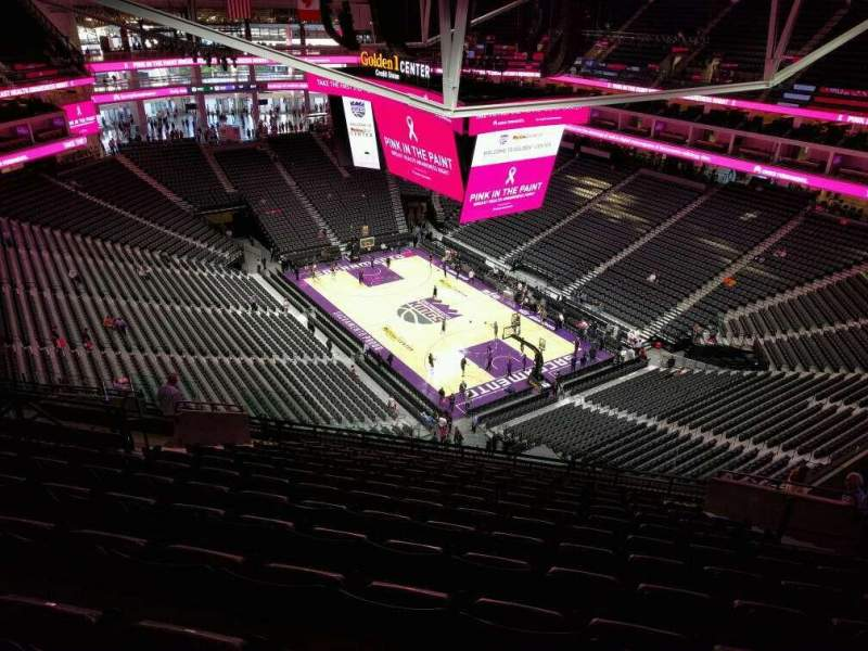 Seating view for Golden 1 Center Section 214 Row q Seat 18