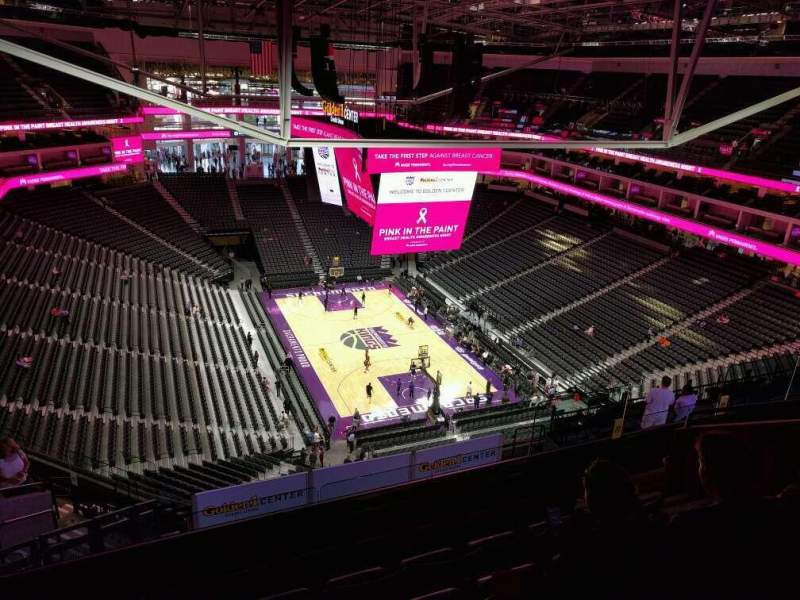 Seating view for Golden 1 Center Section 213 Row n Seat 7
