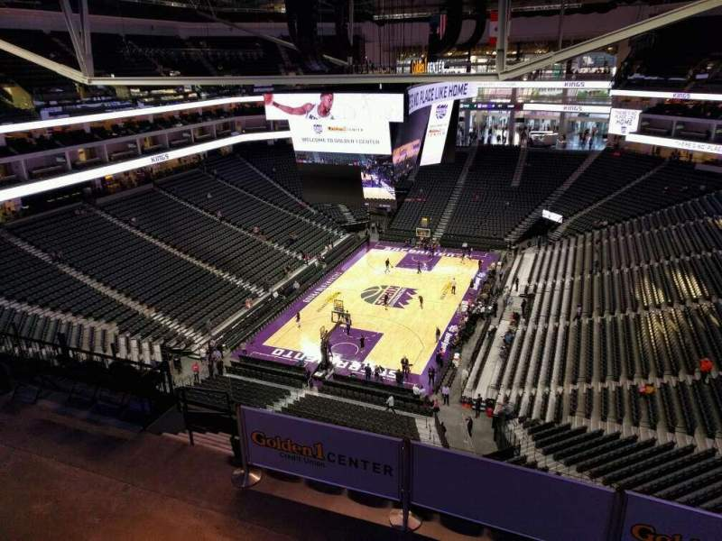 Seating view for Golden 1 Center Section 210 Row h Seat 10
