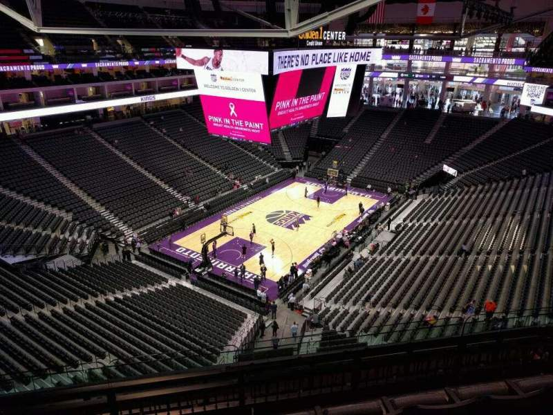 Seating view for Golden 1 Center Section 209 Row f Seat 9