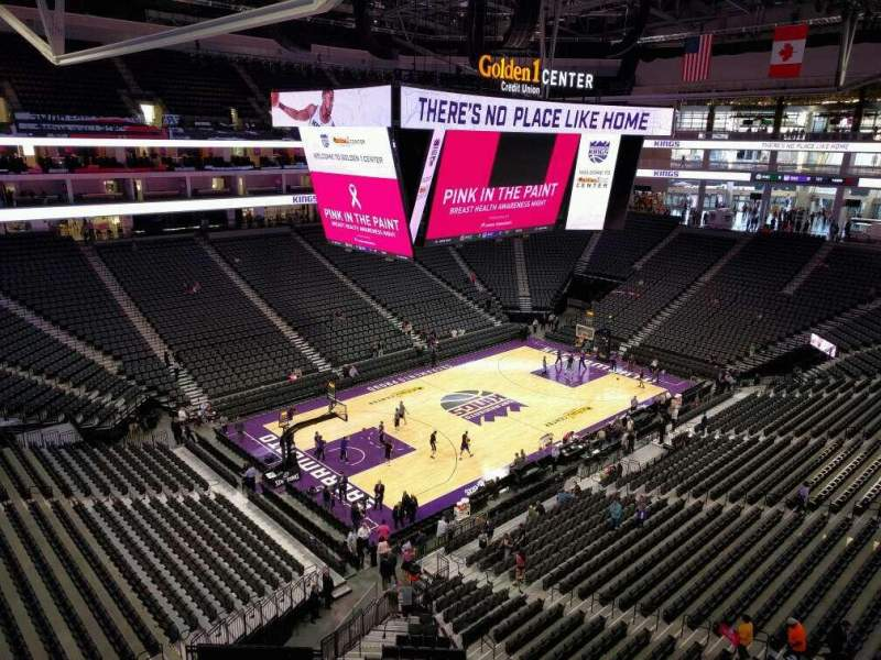 Seating view for Golden 1 Center Section 208 Row a Seat 13