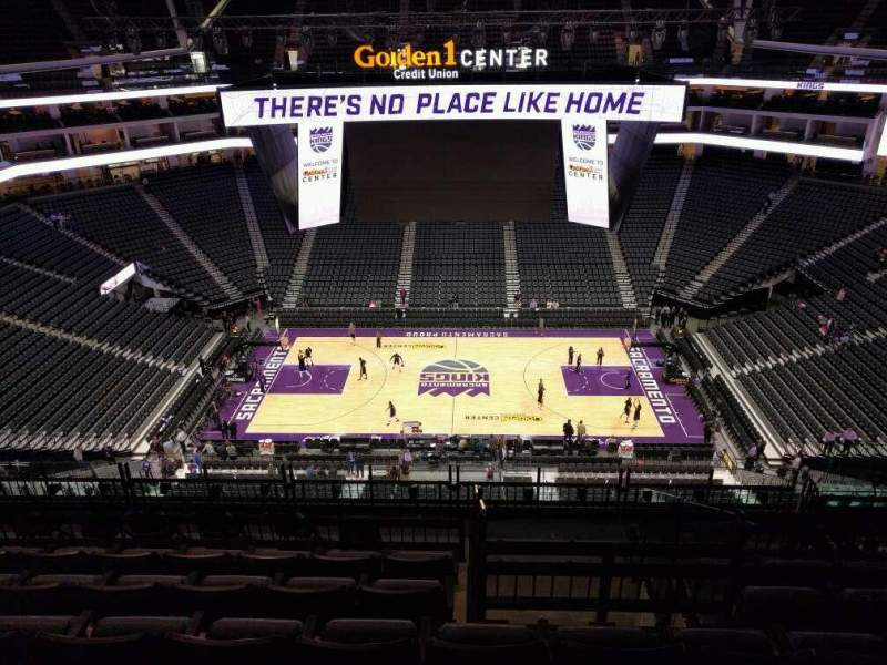Seating view for Golden 1 Center Section 205 Row k Seat 11