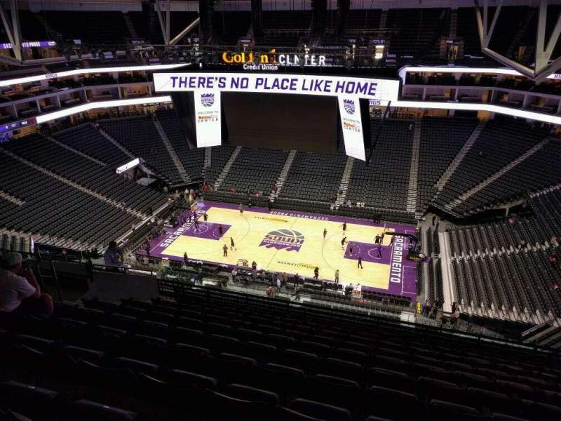 Seating view for Golden 1 Center Section 204 Row n Seat 12