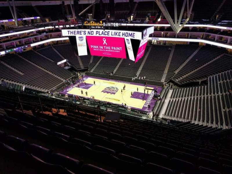 Seating view for Golden 1 Center Section 203 Row r Seat 14
