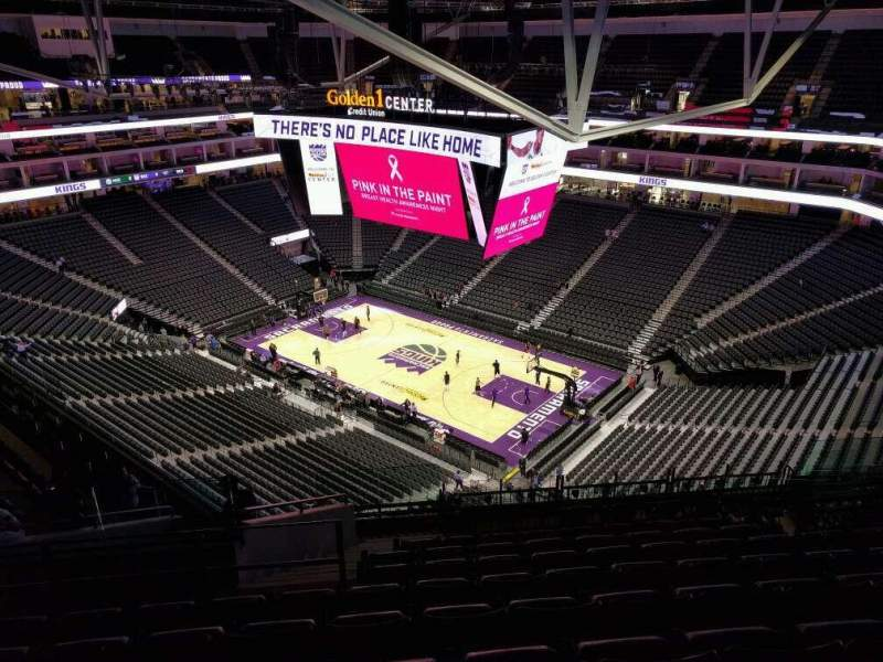 Seating view for Golden 1 Center Section 202 Row n Seat 17