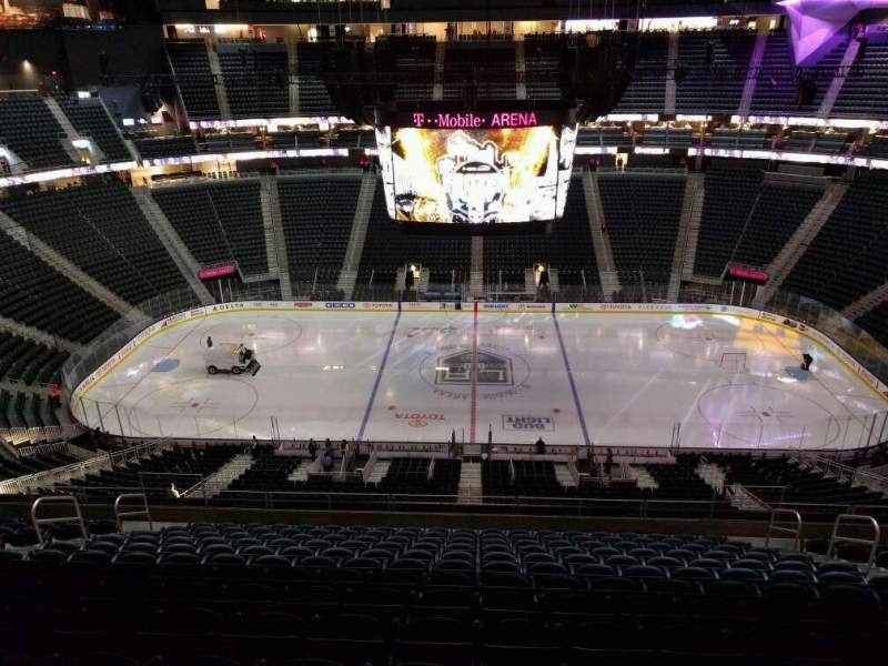 Seating view for T-Mobile Arena Section 205 Row n Seat 12