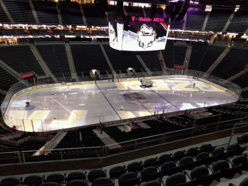 Seating view for T-Mobile Arena Section 203 Row f Seat 7