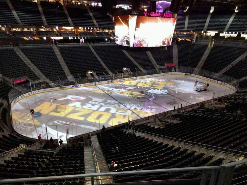 Seating view for T-Mobile Arena Section 202 Row b Seat 5